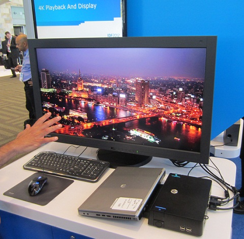 Intel Ivy Bridge 4K Monitor Demo