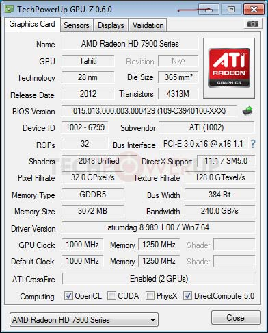 Amd radeon hd 7990 surfaces specs confirmed legit reviews amd radeon hd 7990 gpu z publicscrutiny Gallery
