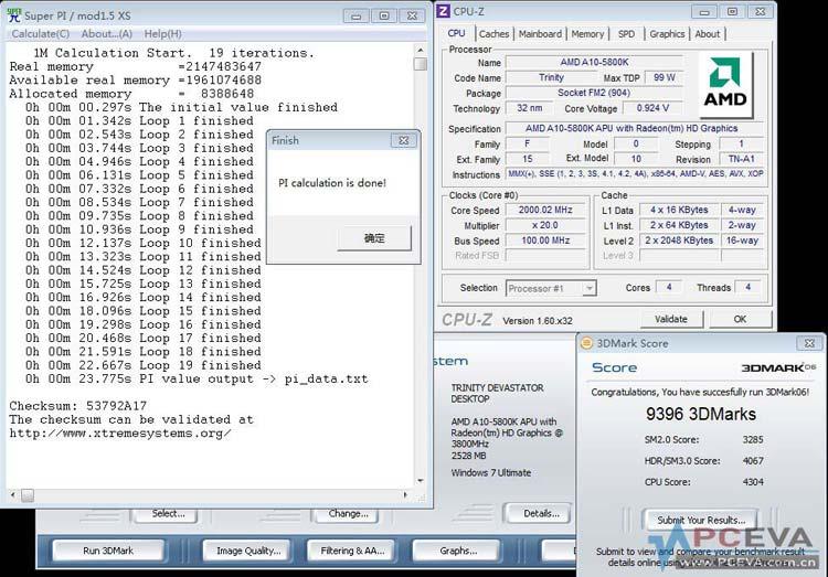 AMD Trinity A10-5800k Benchmarks