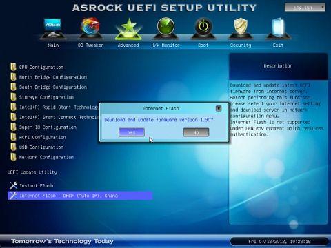 ASRock's Internet Flash UEFI BIOS Feature Makes Updating the BIOS a