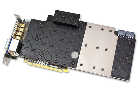 MSI Radeon HD 7970 Lightning Water Block Front