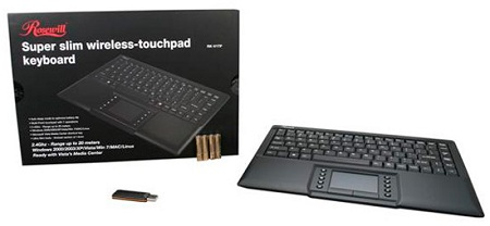 Rosewill Super Slim 2.4GHz Wireless Touchpad Keyboard