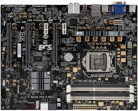 ECS Z77H2-A5X Deluxe Motherboard