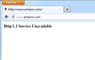 Amazon Website Down