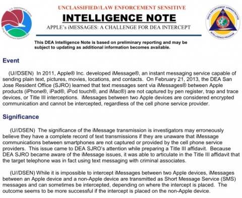 Apple iMessages DEA