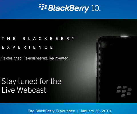 BlackBerry 10 Live Webcast