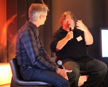 Gabe Newell and Ed Fries at Casual Connect