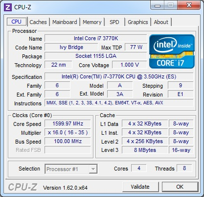 CPU-Z 1 62 Released for Download - Legit Reviews