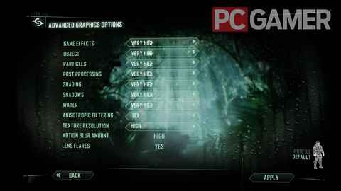 Crysis 3 advanced graphics settings