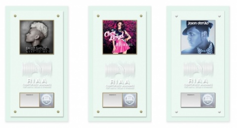 RIAA Digital Single Award Plaques