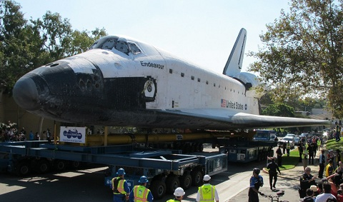 Endeavour Space Shuttle in Inglewood