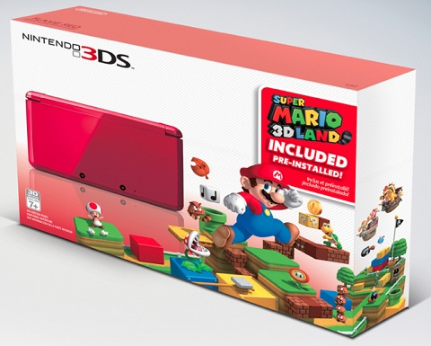 Flame Red 3DS bundle