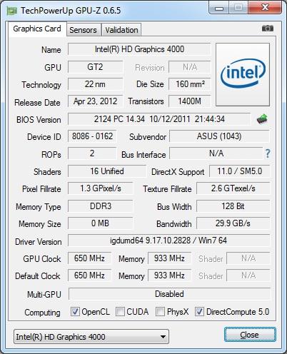 GPU-Z 0.6.5 Utility