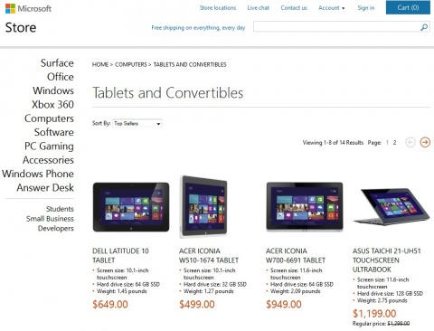 Microsoft Store Prices