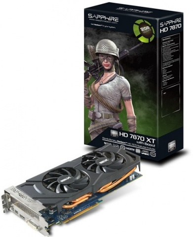 Sapphire Radeon HD 7870 XT Boost Video Card