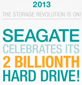 Seagate Two Billion Hard Disk Drives Shipped