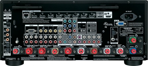 Onkyo TX-NR929 Network A/V Receiver Back