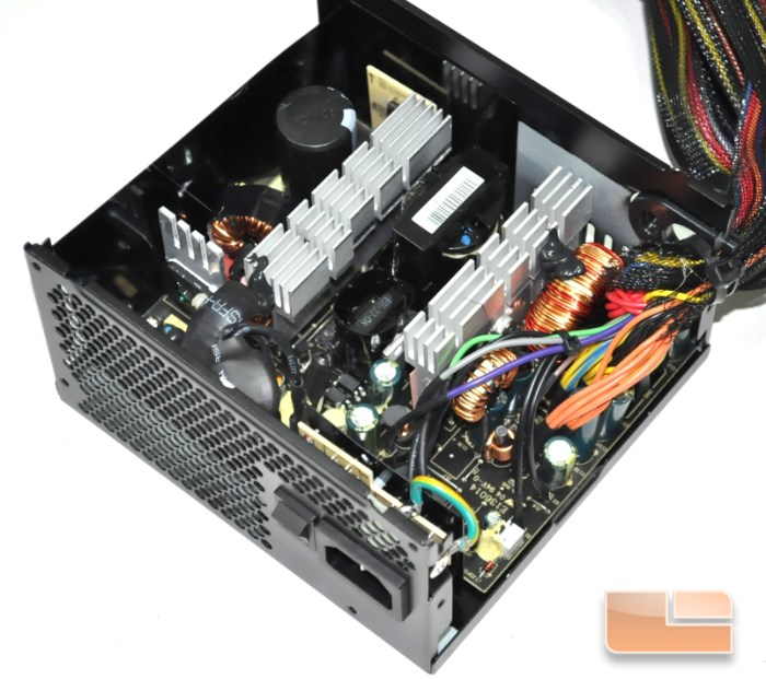 Inside the EVGA 500B unit