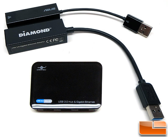 ASUS Diamond and Vantec Gigabit Adapters