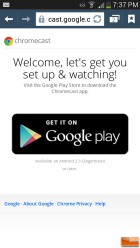 To get started you need to download the Chromecast app