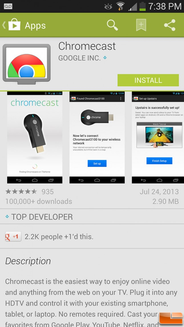 First you have to download the Chromecast app
