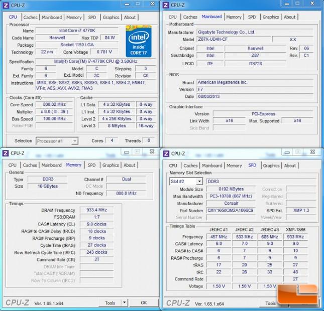 Corsair Vengeance Pro CPU-Z