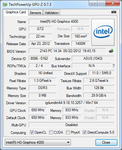 Intel 9.18.10.3257 Video Card Driver