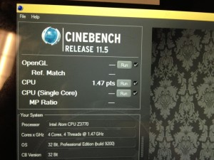 Intel BayTrail Cinebench
