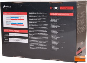 Corsair H100i Box Rear