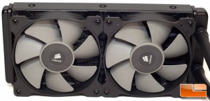 Corsair H100i Fans Installed