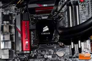 Corsair H100i Water Block Installed
