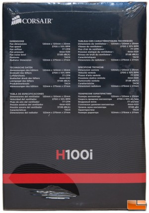 Corsair H100i Box Left