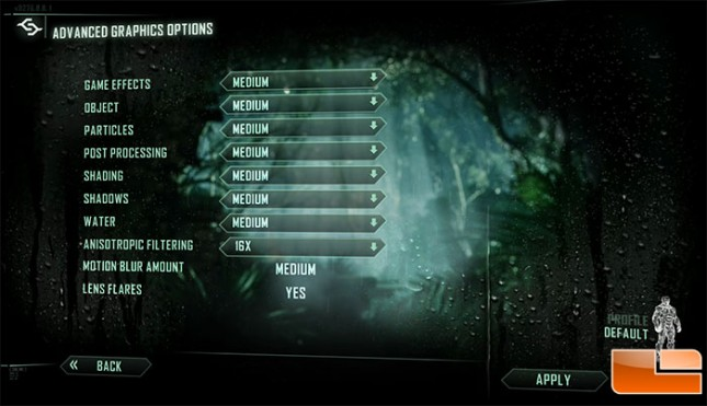 HD7870 Crysis 3 Graphics Advanced Settings