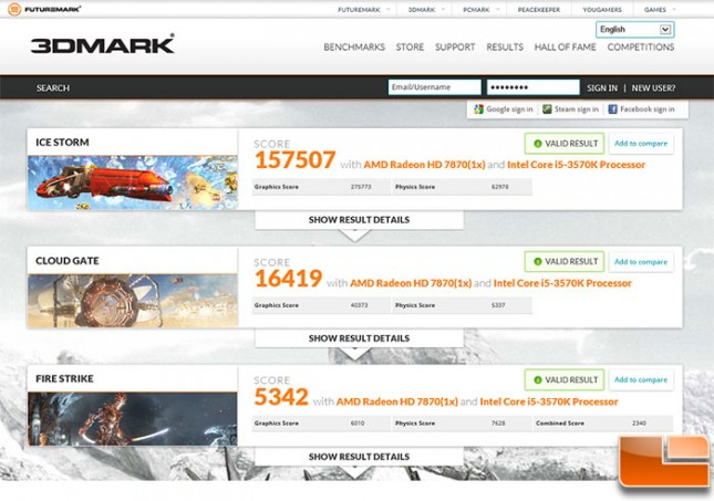 Gigabyte HD7870 Overclock 3d Mark