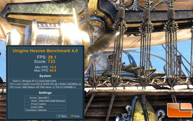 HD7870 Heaven Overclocked Best Results