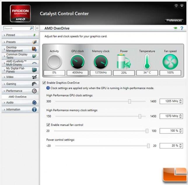 HD7870 Castalyst Control Overclocked