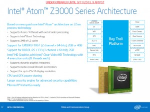 Intel Atom Processor Z3000 Bay Trail