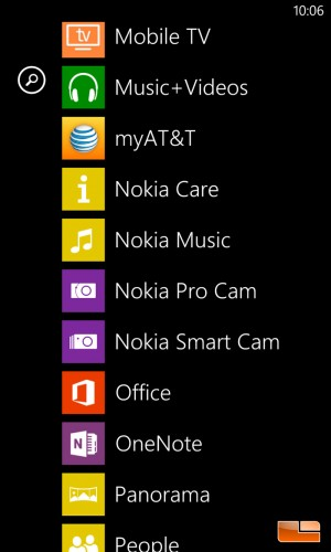 Nokia Lumia 1020 Windows 8 Phone Software