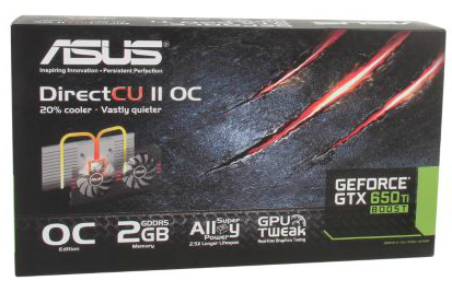 ASUS GeForce GTX 650 Ti BOOST 2GB