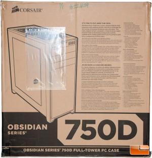 Corsair Obsidian 750D Box Front