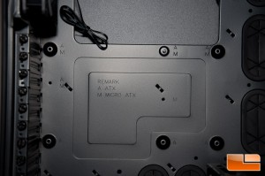 Corsair Obsidian 750D Motherboard Tray Labeling