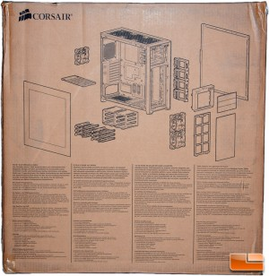 Corsair Obsidian 750D Box Rear