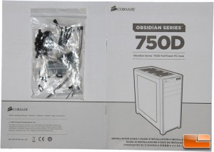 Corsair Obsidian 750D Box Contents