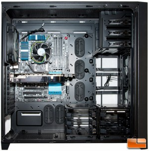 Corsair Obsidian 750D MB Video HDD Installed