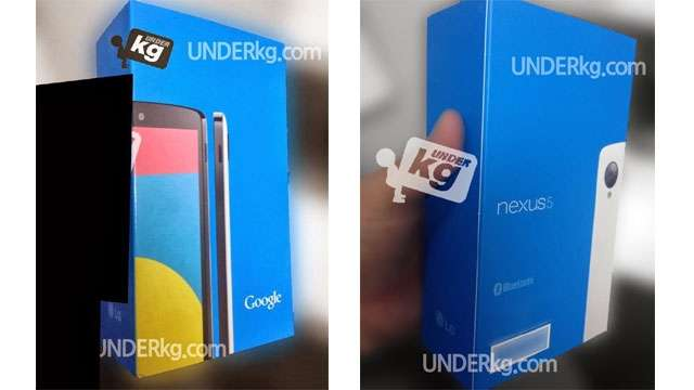 Nexus 5 retail packaging