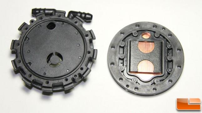 Scythe pump split in half