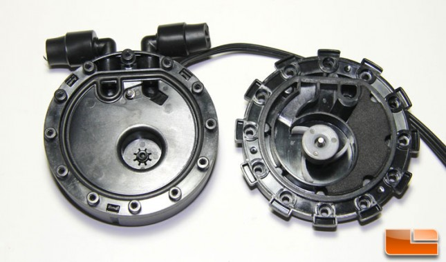 Zalman LQ Pump split in half