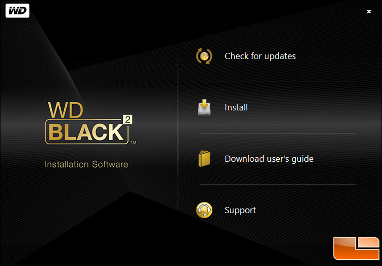 WD Black Software Install 2