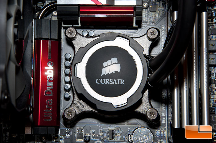 Corsair H75 Block Installed
