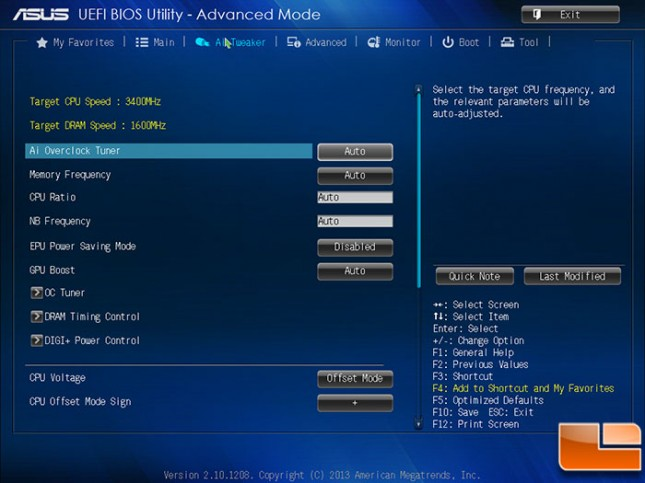 ASUS A88X-PRO BIOS AI Tweaker